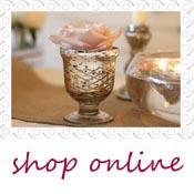 mercury silver footed vase or tea light holder