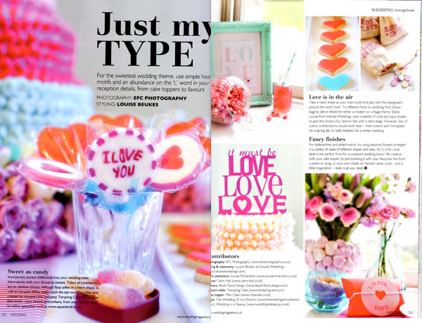 milk bottles wedding magazine