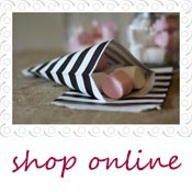 black and white stripe candy bags