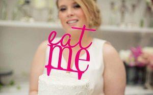 eat me cake topper
