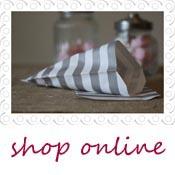 grey stripe candy bags