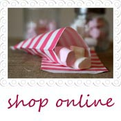 pink stripe candy bags