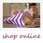 purple striped candy bags