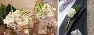 rustic country wedding flowers