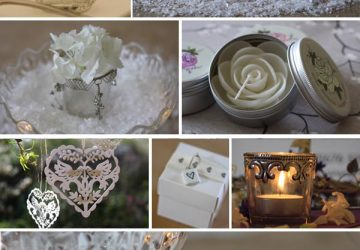white and silver wedding decorations