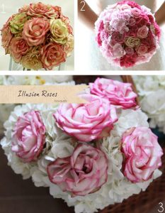 illusion rose bouquets