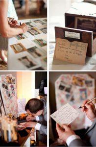 postcards wedding guest book