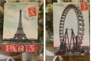 postcards wedding table plan