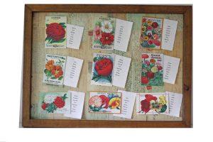 postcards wedding table plan flowers