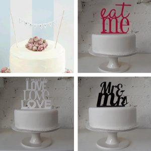 wedding cake toppers cake bunting