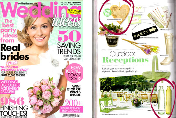 Wedding decorations features in wedding magazines wedding decorations in wedding ideas magazine november junglespirit Images