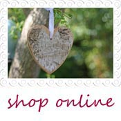 wooden bark hanging heart