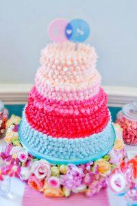 gradual fade pink wedding cake