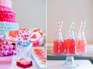 mini milk bottles with straws