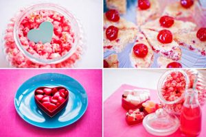 pink wedding sweetie buffet