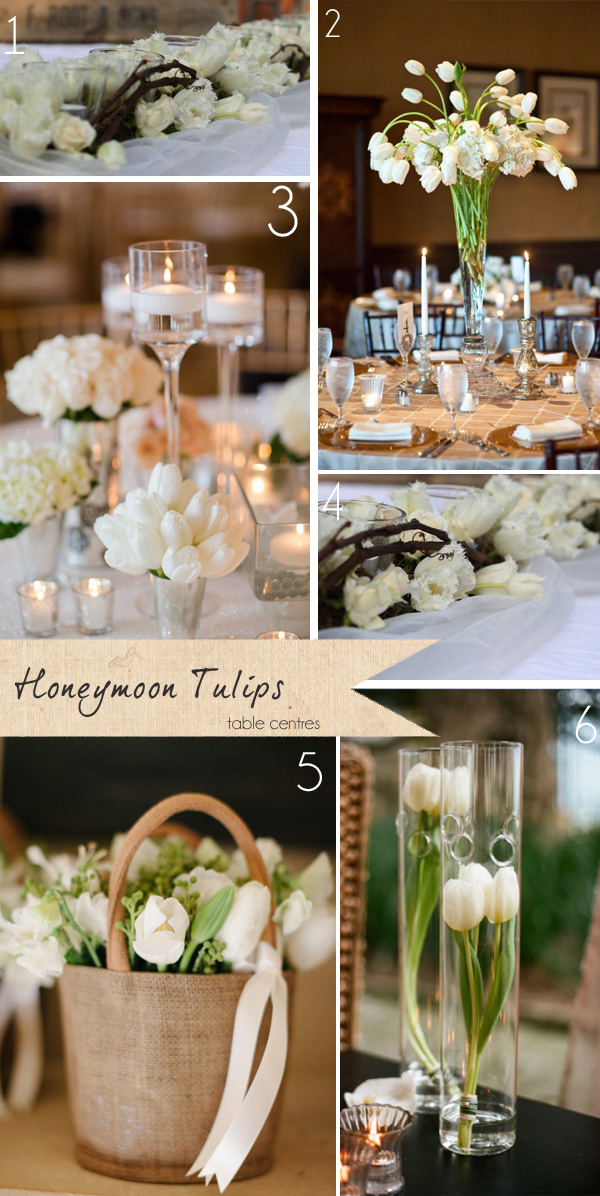 honeymoon frilly tulips table centres