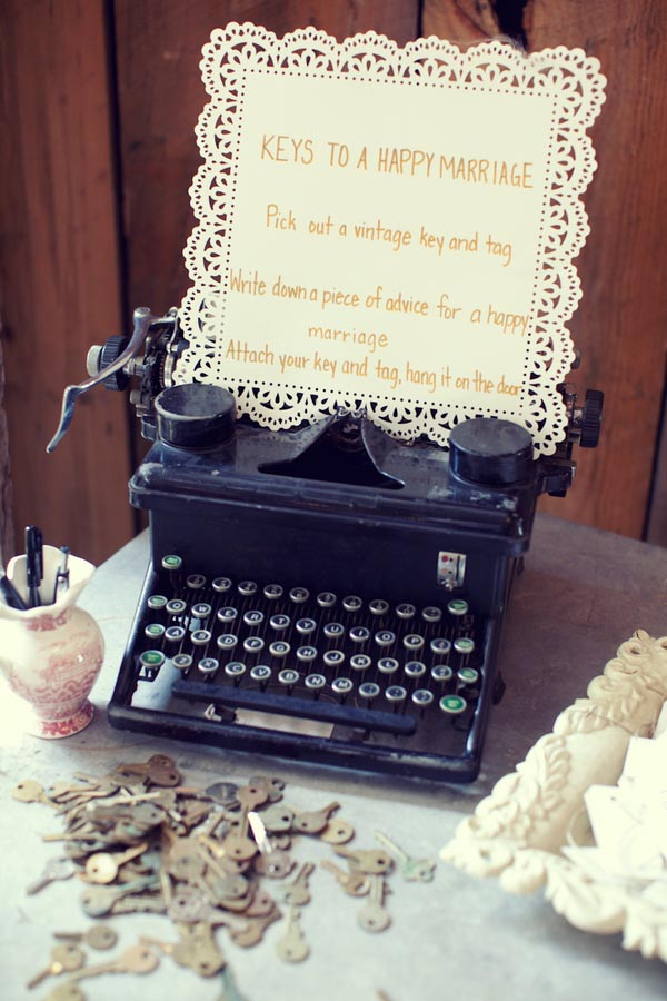Ways To Use Keys At Weddings { Wedding Decoration Inspiration }