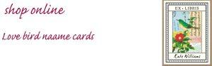 love bird name cards