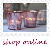 pink tea light holders