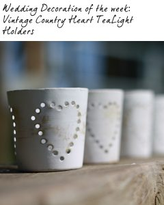 vintage country heart wedding tea light holders