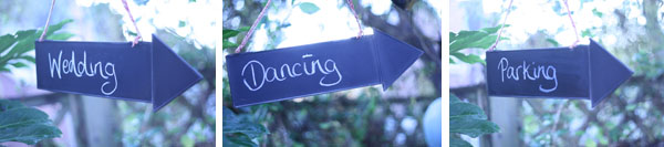 wedding arrow directional signs chalkboard blackboard signs