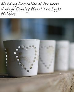 wedding tea light holders vintage country hearts