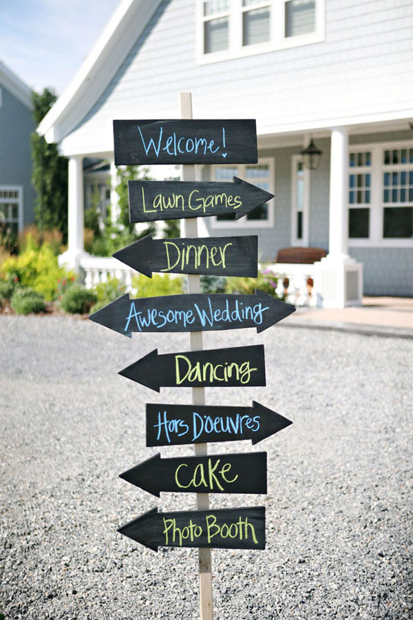 wedding directional signs chalkboard blackboard arrow signs