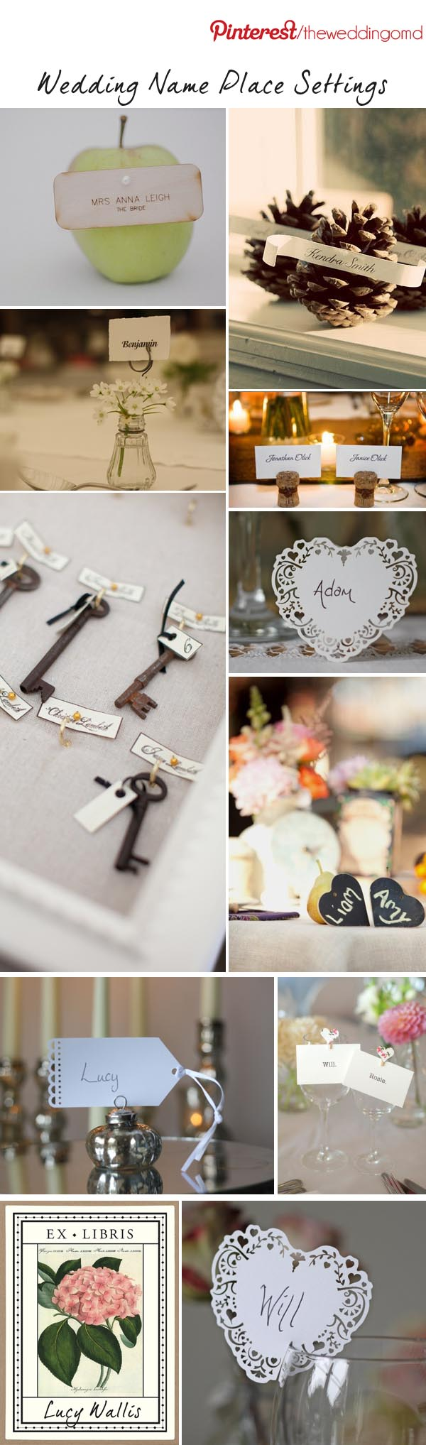 wedding name place settings