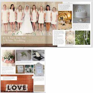 white wedding decorations and white wedding details
