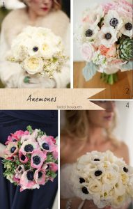 anemone wedding bouquets wedding flowers