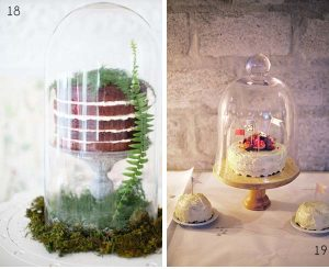 bell jar wedding cakes