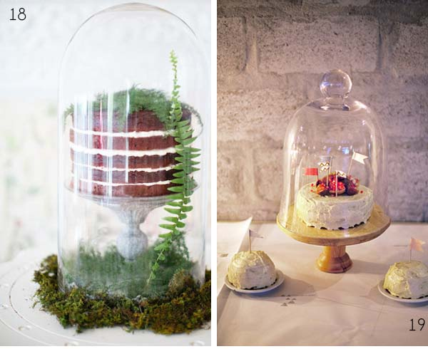 bell jar wedding cakes