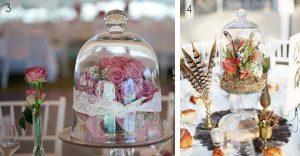 bell jar wedding cente pices