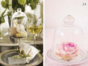 bell jar wedding place settings