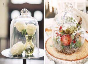bell jar wedding table centre
