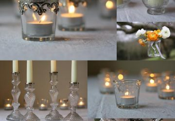 clear glass wedding decorations elegant wedding decor