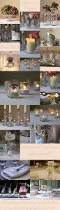 clear glass wedding decorations elegant wedding decor
