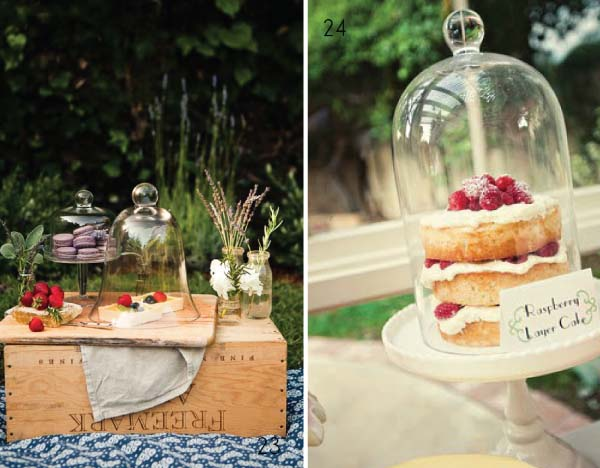 glass bell jar cake weddings