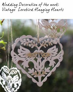 hanging wedding decorations hanging lovebird hearts