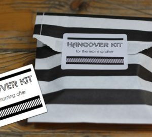 hangover kit wedding