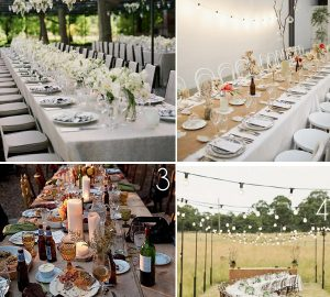 long tables wedding receptions