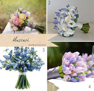 muscari wedding bouquets blue bride bouquets