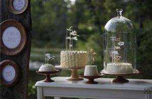 wedding bell jars sweet buffet cakes