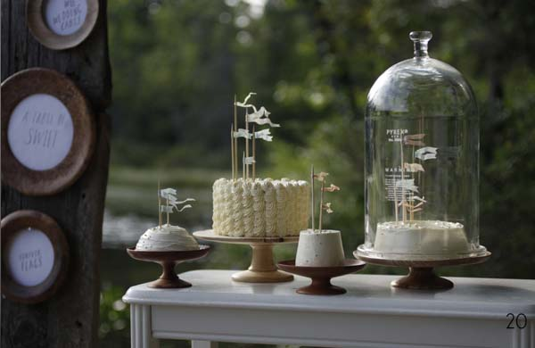 wedding bell jars sweet buffet cakes