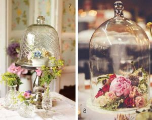 wedding table centre bell jar glass cloche
