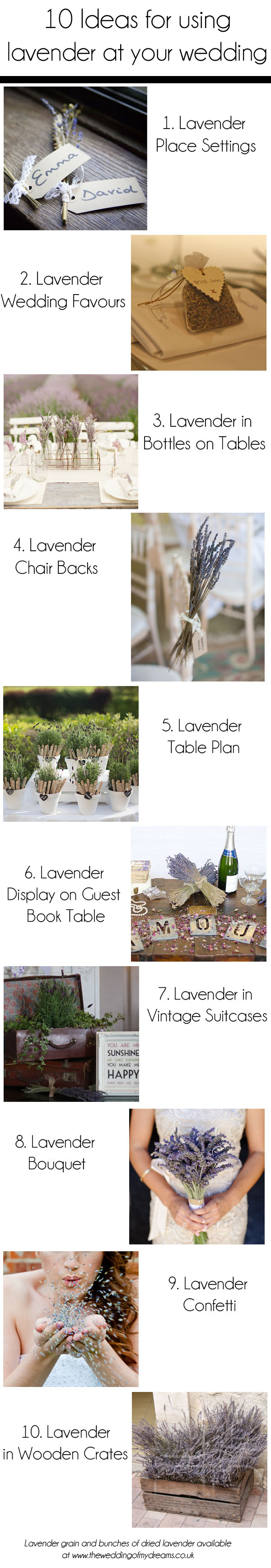 10 ideas for using lavender at your wedding