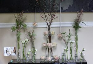 Hampton Manor entrance wedding flowers (2)