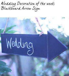 blackboard arrow wedding sign