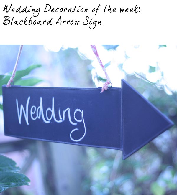 blackboard arrow wedding sign