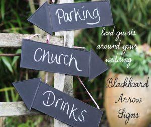 blackboard arrow signs